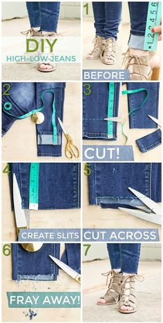 Whether you're looking for a comfortable pair of jeans or a nice pair of dress pants, BohoBlu has a wide selection of boho clothing brands. Sewing Hacks, Sewing Projects, Sewing Tips, Diy Distressed Jeans, How To Distress Jeans, Distressing Jeans, How To Fray Jeans, How To Rip Your Jeans, Frayed Hem Jeans