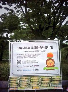 Twitter / insupforestever: 인숲화환 뒤 큰 ...