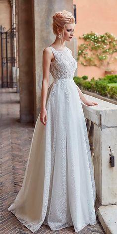 Oksana Mukha Wedding Dresses 2018 ❤ See more: http://www.weddingforward.com/oksana-mukha-wedding-dresses-2018/ #weddingforward #bride #bridal #wedding