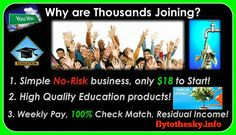 Financial Literacy Economic Education Income Generating System - Learn & Earn From Home Best Home Based Business, Home Based Business Opportunities, Home Business Organization, Weekly Pay, Learn Earn, Earn From Home, Financial Literacy, Internet Marketing, Marketing Tools