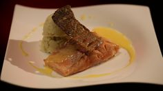 Mick and Matt's Salmon with Smoked Eel Potato Brandade and Lemon Beurre Blanc from season 4 of My Kitchen Rules: http://gustotv.com/recipes/dinner/salmon-smoked-eel-potato-brandade-lemon-beurre-blanc/