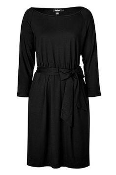 DKNY  Black Belted Jersey Dress