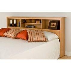 Montego Maple King Bookcase Headboard   Overstock™ Shopping   Big Discounts  On Headboards