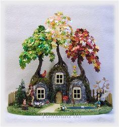 Моя самая любимая работа. домики осенних фей.   biser.info - всё о бисере и бисерном творчестве