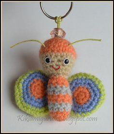 El nirvana de lana: Llavero mariposa