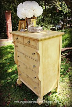 My Passion For Decor: Creamy Yellow Empire Dressers