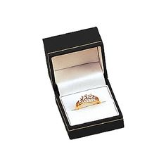 """Noble Gift Packaging's  """"Copenhagen"""" collection of jewellery boxes brings you clean lines and handsome detailing. These leatherette-bound boxes have decorative gold tooling accents on the lid, sumptuous velvet inserts, and white satin lined lids. This Ring Box is available in a variety of colours. To create a lasting impression - print your logo!"""