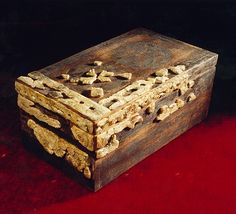 Fragments of a decorated coffer found in Ostrów Lednicki, Poland. Culture: Slavic (West Slavs - early Polish state) Timeline: c. 10th-11th century