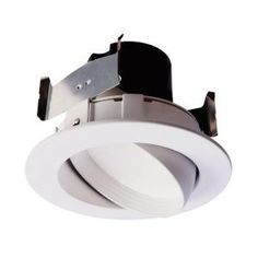Halo 4 in aluminum recessed lighting led t24 new construction ic halo ra 4 in white integrated led recessed ceiling light fixture adjustable gimbal retrofit trim 90 cri 2700k warm white aloadofball Gallery