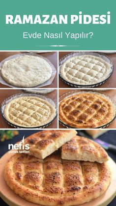 Ramadan Pita (Sour Yogurt Things to Maya) - Yummy Recipes Turkish Sweets, Turkish Kitchen, Fresh Fruits And Vegetables, Fish And Seafood, Food Design, Bread Recipes, Yummy Recipes, Bagels, Italian Recipes