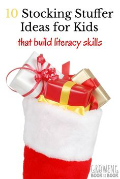 Stocking stuffer ideas for kids that will help build literacy skills. Check out these educational stocking stuffer ideas. Christmas And New Year, Christmas Fun, Holiday Fun, Christmas Things, Christmas Decorations, Inexpensive Christmas Gifts, Xmas Gifts, Christmas Presents, Literacy Skills