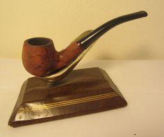 Vintage Full Bent Billiard With Deer Carvings Briar Estate Tobacco Smoking Pipe