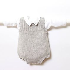 41 / Baby Romper / Knitting Pattern Instructions in English /