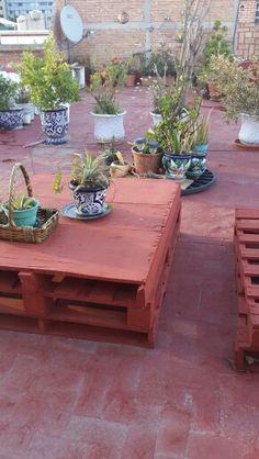 Mi jardín en la azotea, mesa de jardín,
