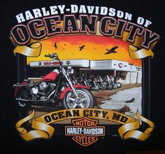Harley Davidson Ocean City Maryland T-Shirt Size S Small Authentic Black #HarleyDavidson #GraphicTee