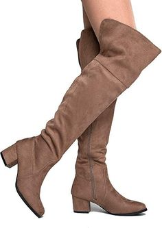 Adams Brandy Over The Knee Boot - Trendy Low Block Heel Suede Thigh High online. Shop the latest collection of J. Adams Brandy Over The Knee Boot - Trendy Low Block Heel Suede Thigh High from the popular stores - all in one Low Heel Boots, Low Heels, Heeled Boots, Shoe Boots, Ankle Boots, Women's Shoes, Block Heel Shoes, Western Boots, Thigh Highs