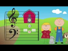 CC Week 7 - Week 12 The Barnyard Friends and the Grand Staff.  Subscribe to the channel on youTube.  Lots of cute videos for music theory during tin whistle!