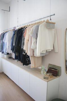 Hanging wardrobe - Home - Hanging Wardrobe, Diy Wardrobe, Wardrobe Rack, Small Room Decor, Diy Room Decor, Home Decor, Wardrobe Organisation, Moving House, New Room