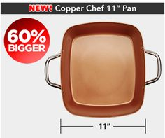 Copper Chef XL Family Size Nonstick Pan: Cook 60% More Without Added Oil | Copper Chef XL™