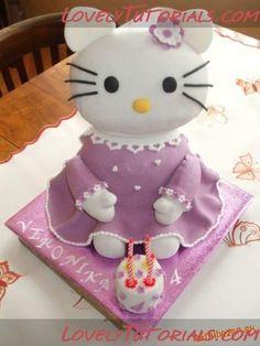 3D Hello Kitty - Мастер-классы по украшению тортов Cake Decorating Tutorials (How To's) Tortas Paso a Paso