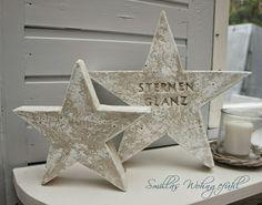 DIY: a star is born! Beton-Sterne Holz Handwerk , DIY: a star is born! Beton-Sterne DIY: a star is born! Concrete Crafts, Concrete Projects, Diy Projects, Cement Art, Concrete Art, Concrete Color, Christmas Deco, Christmas Crafts, Diy Star