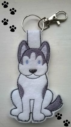Husky Keyring, Husky Keychain, Husky Bag Charm, Husky Key Chain, Siberian Husky Key Ring, Dog Key Ring, Dog Key Fob, Dog Bag Charm by MistyMakesForYou on Etsy