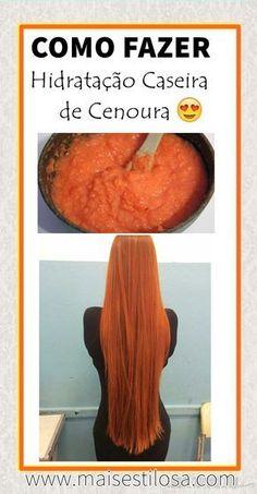 HIDRATAÇÃO DE CENOURA: Cabelos super macios, com muito brilho, nutridos e recuperados!   #hidrataçãocaseira #hidrataçãocapilar #hidratação #aguadecoco #receitasnaturais #DIY #natureba  #receitascaseiras #receitacaseira  #hair #longhair