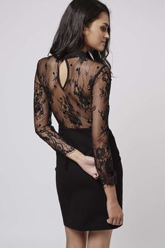 Beaded Lace Bodycon Dress - Topshop