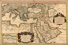Dominions or empire of the Great Turkey in Europe, Asia, and Africa Europe, Old Maps, Ottoman Empire, Historical Pictures, Cartography, 17th Century, Vulnerability, Vintage World Maps, Fun