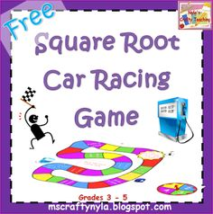 Free #Math Board Game for Square Roots!