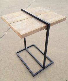 Crit Room - Reclaimed wood and steel bar table. $425.00, via Etsy.