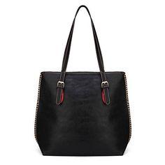 Retro Simple Large Women Diagonal Zipper Handbag ❤ liked on Polyvore featuring bags, handbags, shoulder bags, retro shoulder bag, black and white purse, black white purse, black white handbags and retro purse