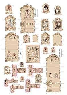 41 New Ideas Doll House Printables Miniatures Dollhouse Furniture Miniature Dollhouse Accessories, Vitrine Miniature, Miniature Dollhouse Furniture, Miniature Dolls, Dollhouse Miniatures, Miniature Tutorials, Paper Doll House, My Doll House, Paper Houses