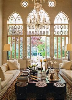 Arched, gorgeous windows
