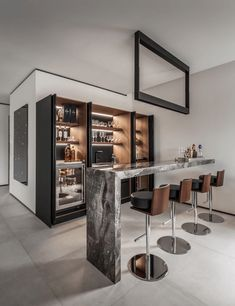 Beautiful Home Bar Designs You'll Go Crazy For. Below are the Home Bar Designs You'll Go Crazy For. This post about Home Bar Designs You'll Go Crazy For was posted under the category by our team at February 2019 at pm. Hope you enjoy it and . Diy Home Bar, Home Bar Decor, Home Bars, Mini Bar At Home, Diy Bar, In Home Bar Ideas, Home Bar Rooms, Contemporary Bar, Contemporary Interior Design