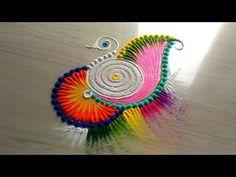 How to make rangoli designs /5 minutes easy & simple rangoli designs jyoti Rathod - YouTube