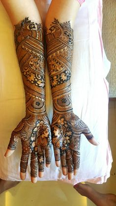 "Photo from album ""Latest bridal & stylish mehandi"" posted by mehendi Amit Nayak Latest Bridal Mehndi Designs, Full Hand Mehndi Designs, Indian Mehndi Designs, Modern Mehndi Designs, Mehndi Design Pictures, Wedding Mehndi Designs, Mehndi Images, Hena Designs, Wedding Henna"