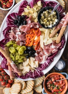 Italian Antipasti Platter with Prosciutto Di Parma - Whether it's a holiday or just a regular dinner with your family, Anitpasti is all you need to keep a group happy! I'll show you how to assemble the perfect Antipasto Platter with Prosciutto di Parma. Charcuterie, Antipasti Platter, Italian Antipasto, Italian Appetizers, Holiday Appetizers, Marinated Vegetables, Tomato Bruschetta, Recipe Creator, Big Meals
