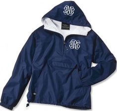 Double Monogrammed Pullover Wind Jacket TinyTulip.com We're All About Personalization - Gifts Monogram Embriodery