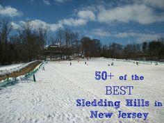 Best Sledding Hills in New Jersey  #njmom
