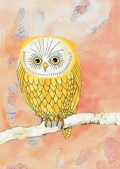 'Yellow Owl' by bellablackbird