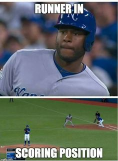 If it's LoCain, first base is absolutely scoring position