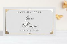 Fanciful Names Foil-Pressed Place Cards by carly reed at minted.com