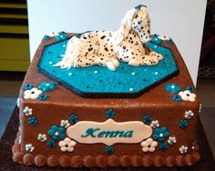 Appoloosa (Spotted) Horse Cake - Front view Appoloosa (Spotted) Horse Cake front view. Butter cream cake with fondant accents and gum paste/fondant horse.