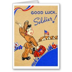 Good Luck Soldier Greeting Cards