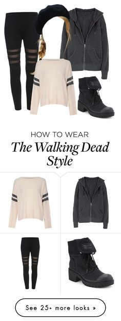 """Walking dead inspired #2"" by rachaelthompson on Polyvore featuring Marc by Marc Jacobs and Glamorous"