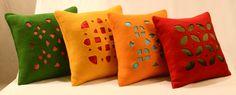 perforated felt cushions #tumarart