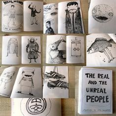 Zine  The real and unreal people by justocascante on Etsy, $5.00