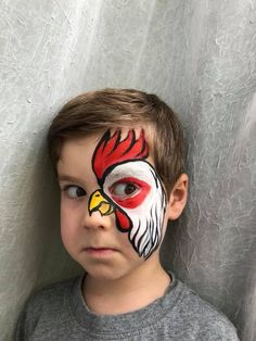 An Awesome Rooster - Face Painting for An Awesome Rooster – Face Painting for Kids An Awesome Rooster – Face Painting for Kids - painting designs for adults beautiful Animal Face Paintings, Animal Faces, Fox Face Paint, Maquillage Halloween, Halloween Makeup, Scary Halloween, Zombie Makeup, Scary Makeup, Halloween Costumes