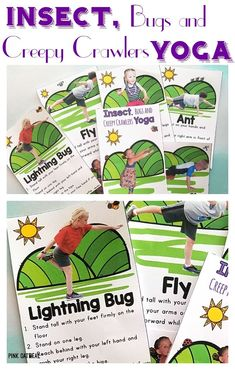 These yoga cards are great for the beginner or advanced yogi. Kids will love these activities all about bugs, insects and creepy crawlers. Preschoolers will enjoy being bugs, ants, flies and more! These are great brain breaks for adding movement to the classroom or getting the wiggles out at home.